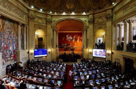 La Cámara de Representantes durante la votación.