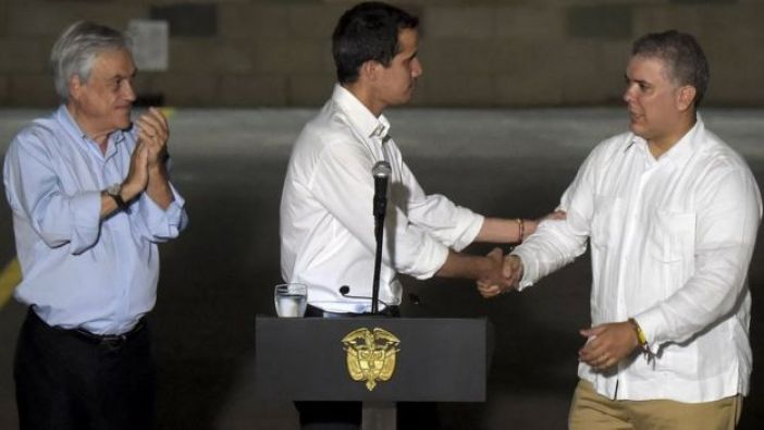 Guaidó y presidentes