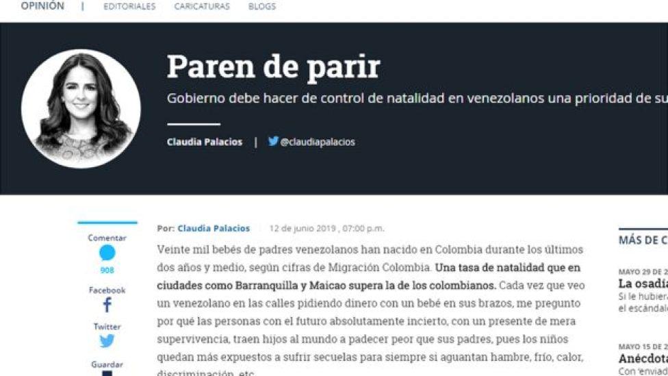 Columna de la periodista Clauda Palacio