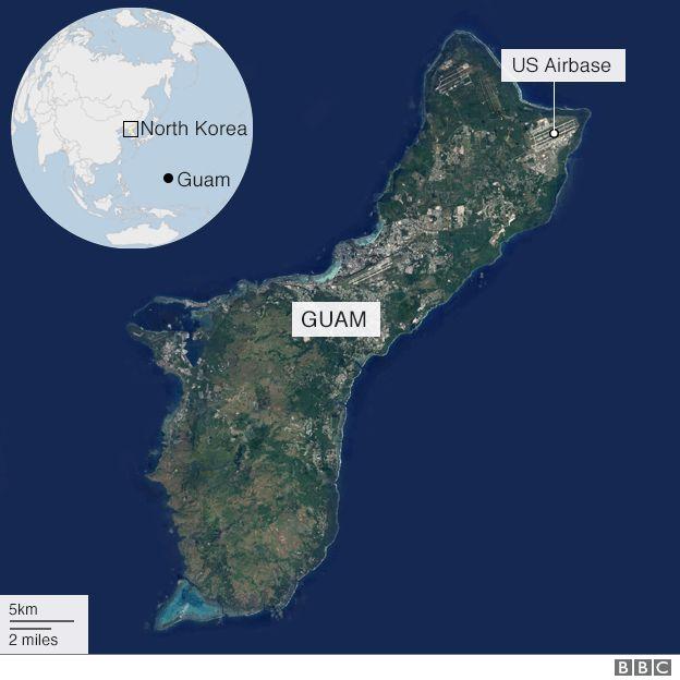 Map showing Guam