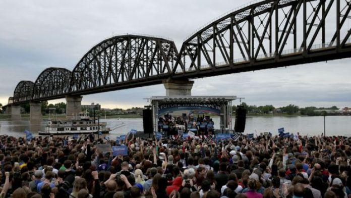 Bernie Sanders rally in Kentucky