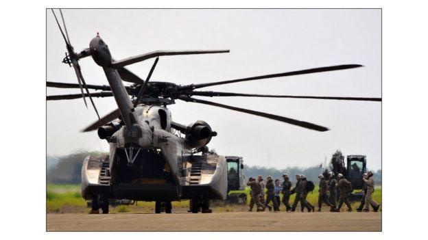 Trực thăng Hoa Kỳ cứu trợ thiên tai ở vùng Nam Đài Loan năm 2009