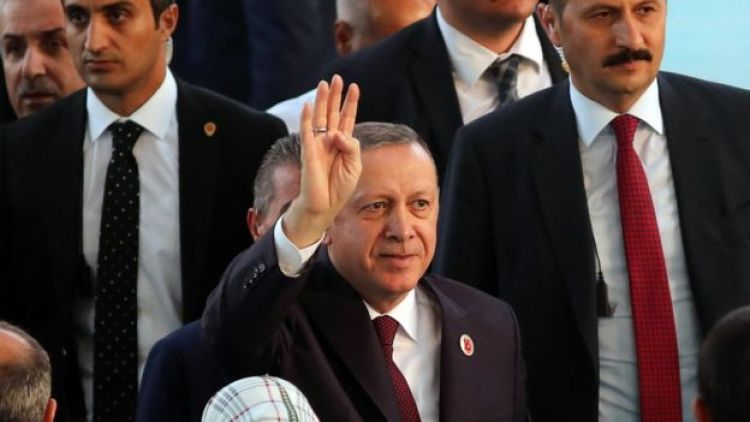 President Erdogan at an AK Party rally, 14 Aug 17