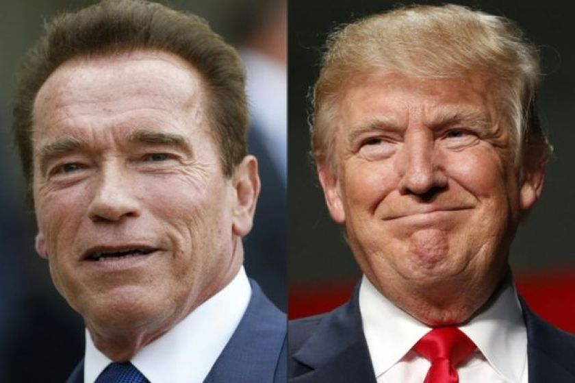 This combination of pictures created on January 06, 2017 shows US actor and former governor of California Arnold Schwarzenegger (left) and US President Elect Donald Trump.