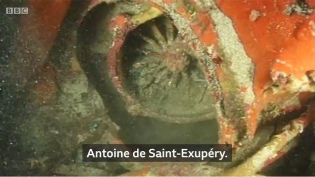 Restos del avión de Antoine de Saint-Exupéry.