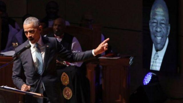 Barack Obama faz um discurso