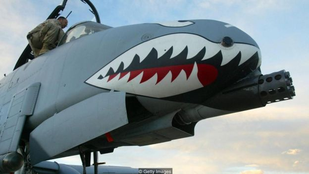The US A-10 also uses a similar 'armoured bathtub' design (Credit: Getty Images)