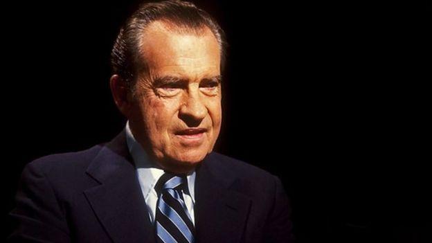Aliyekuwa rais wa Markani Richard Nixon