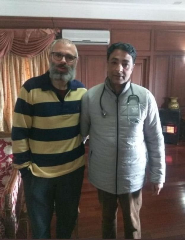 Omar Abdullah, with his doctor