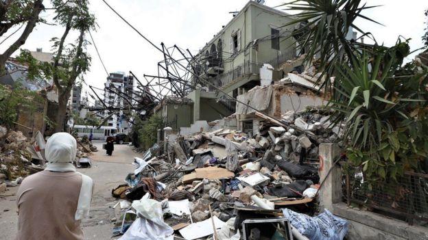 الدمار شمل منطقة واسعة