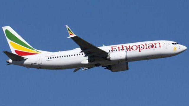 O Boeing 737 Max-8 que caiu no domingo na Etiópia