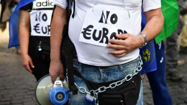 Anti-EU protest in Rome, 25 March 2017