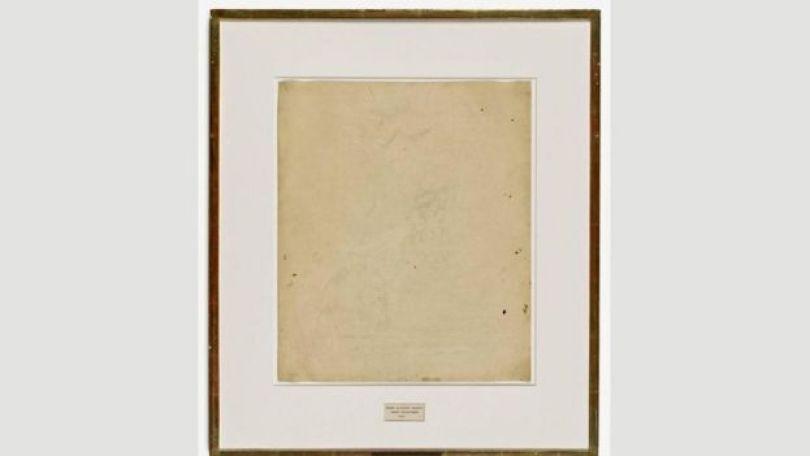 Erased de Kooning Drawing, de Robert Rauschenberg