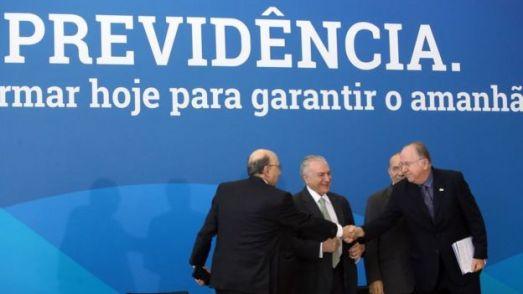 Michel Temer em evento sobre a reforma da Previdência