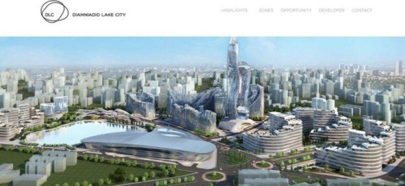 As imagens do projeto de Diamniadio têm uma série de construções parecidas com as da cidade de Akon