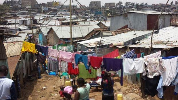 shanty dwellings in Nairobi