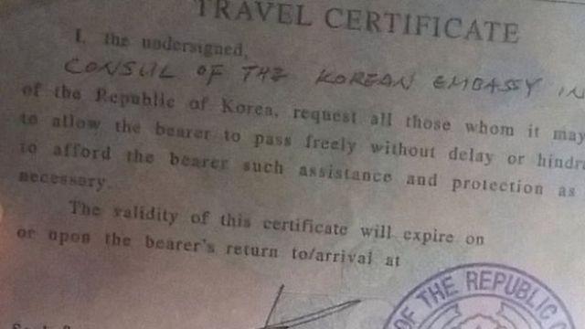 Pasaporte de Seoyeon Lee