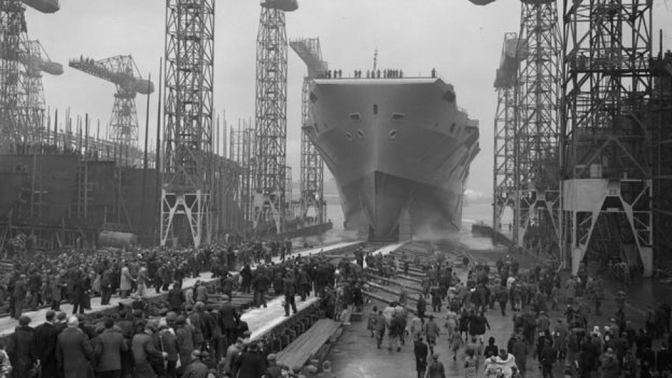 The HMS Eagle was launched by Princess Elizabeth in March 1946
