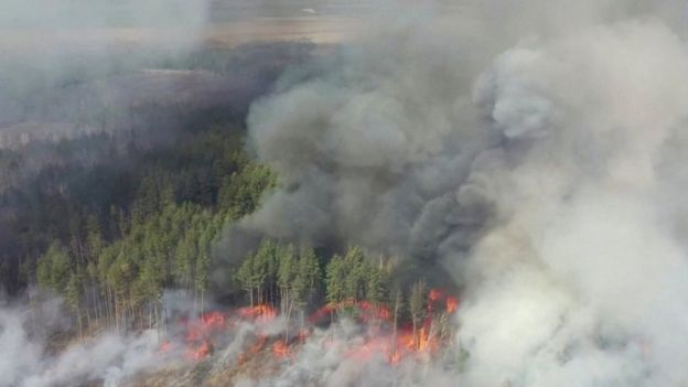 The fire is now 5km from the site