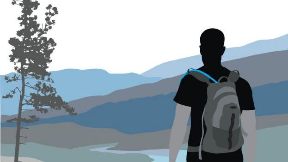 Ilustración de un hombre mirando el horizonte (Imagen: iStock/BBC)