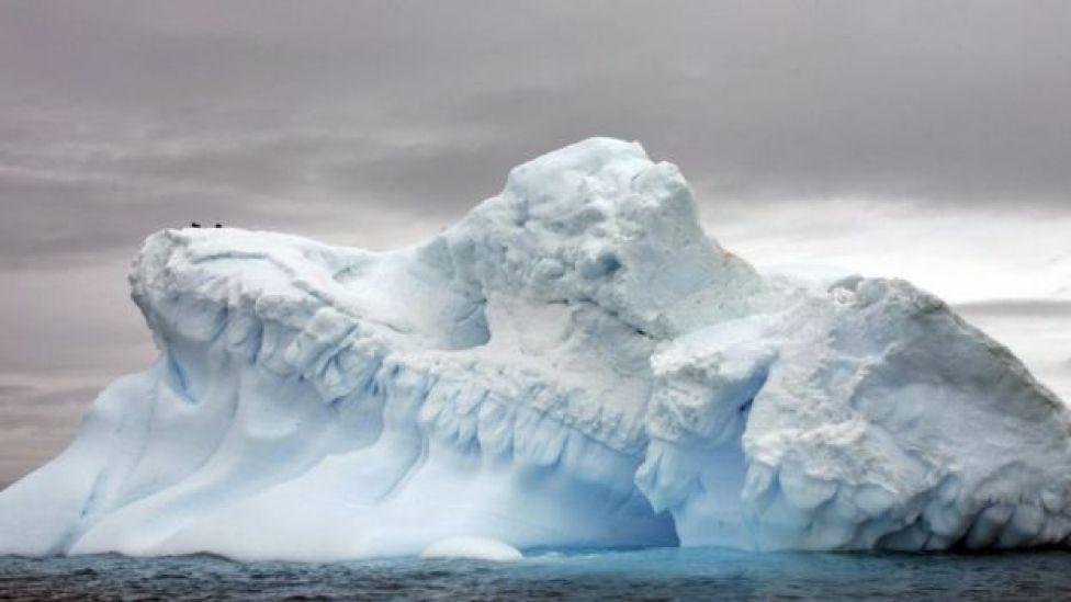 Geleira na Antártica