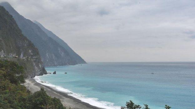 Biển Nam Trung Hoa nhìn từ một vùng núi đá của Đài Loan