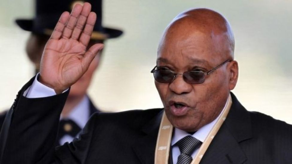 Jacob Zuma being sworn in in 2009
