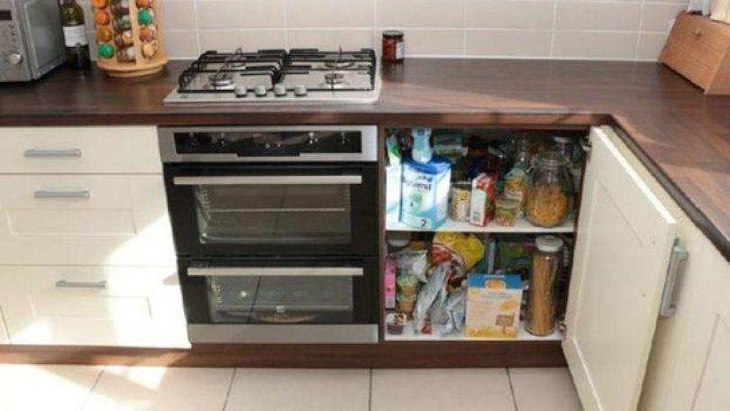 A cozinha da casa dos Cilliers