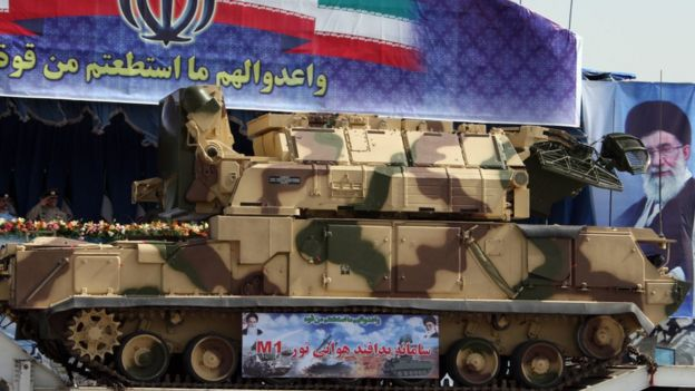 Russian-made Tor missile system in Iran. File photo