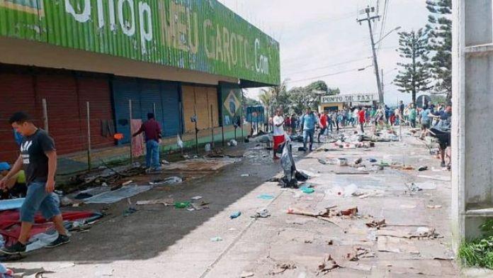 Zona de los disturbios