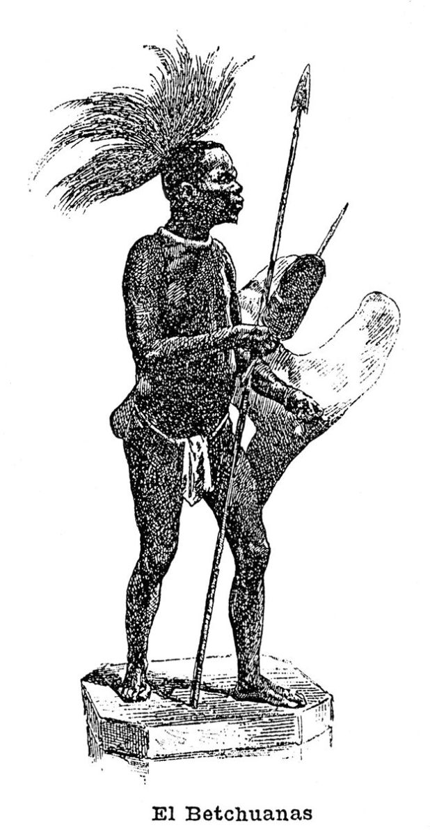 Imagen tomada de un catálogo que representa la imagen de un hombre negro originario de África.