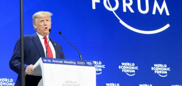 Trump en el Foro Económico de Davos, Suiza.