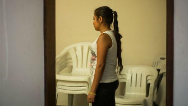 La joven Glady, en el albergue para adolescentes en Ciudad de México.