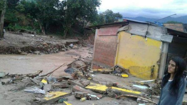Casa afectada por el deslave.