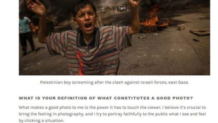 Garoto iraquiano chora após confronto