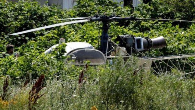 Helicóptero usado por el gánster
