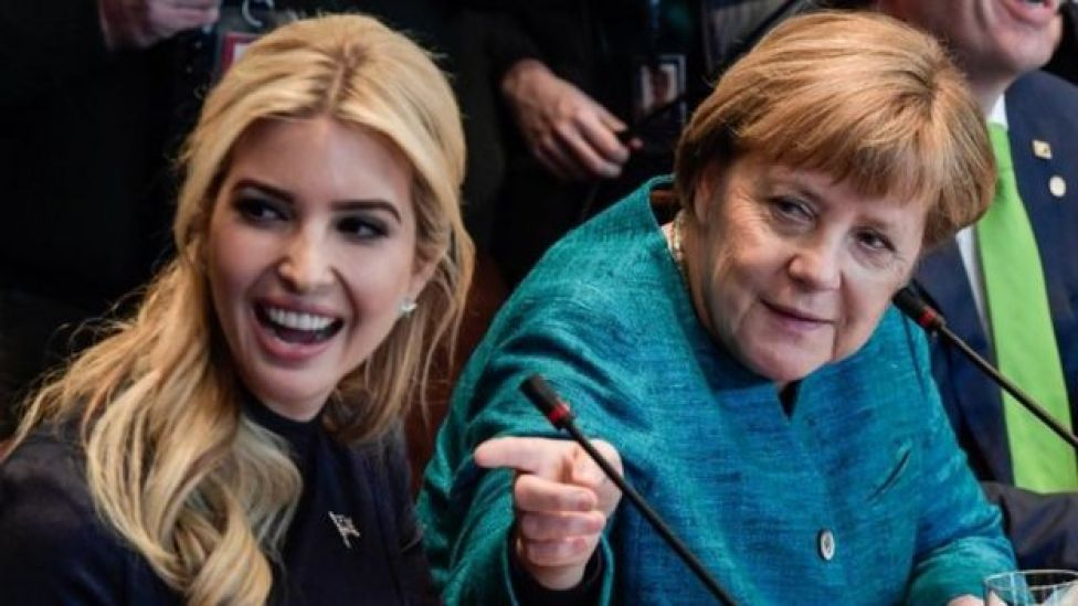 Ivanka Trump and German Chancellor Angela Merkel. Photo: 17 March 2017