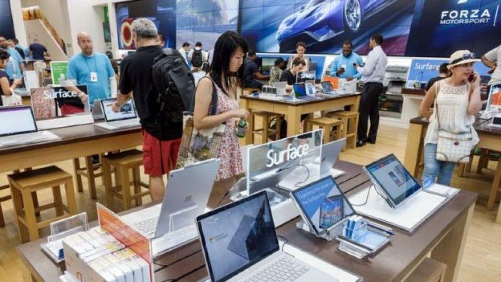 Microsoft tienda en Nueva York.