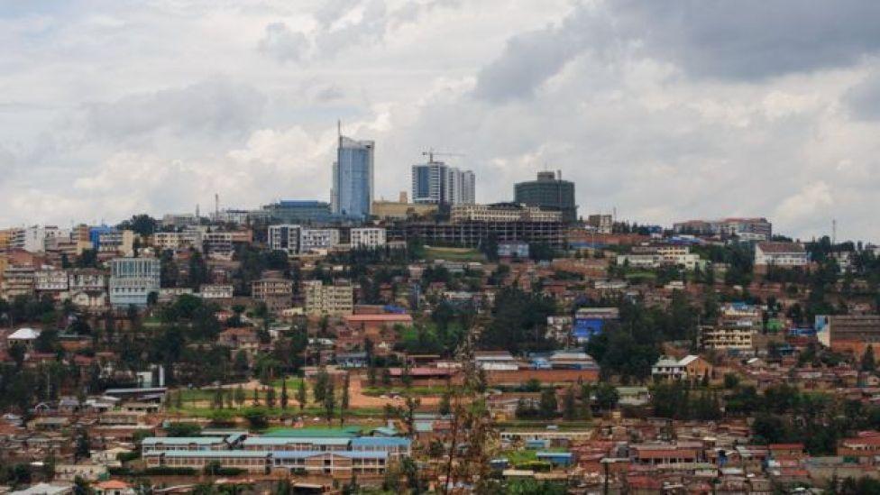 Picha iliyochukuliwa Machi 11, 2014 ikionyesha sura ya kati kati wa mji mkuu Kigali