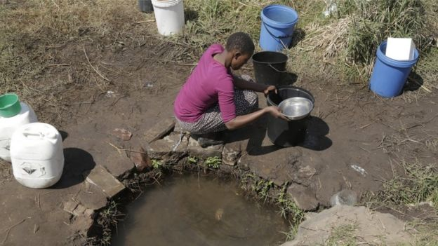 Área de seca no Zimbábue