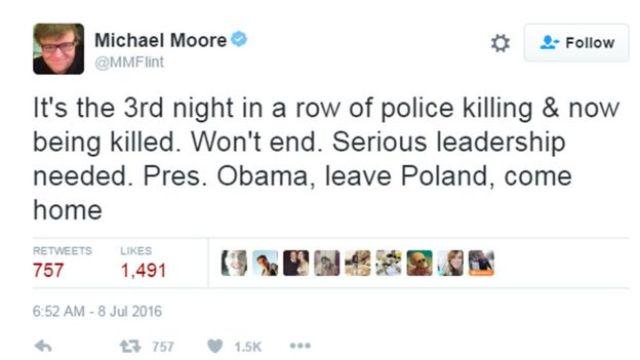 Michael Moore tweeted: