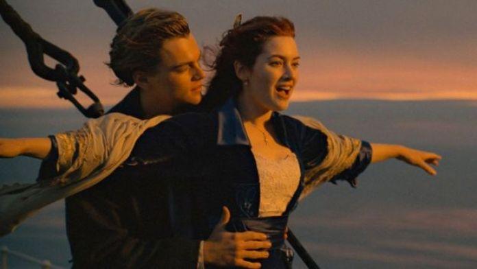 Leonardo DiCaprio y Kate Winslet en Titanic