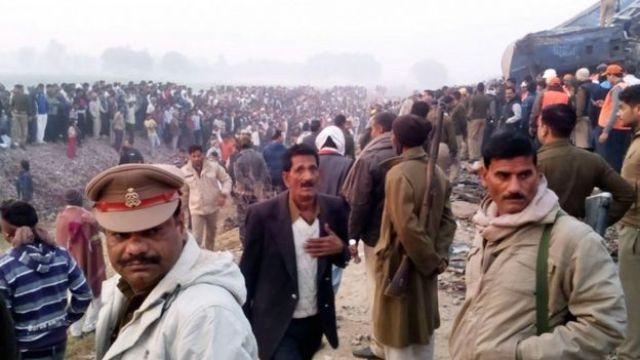 Train derailment in northern India 20 Nov