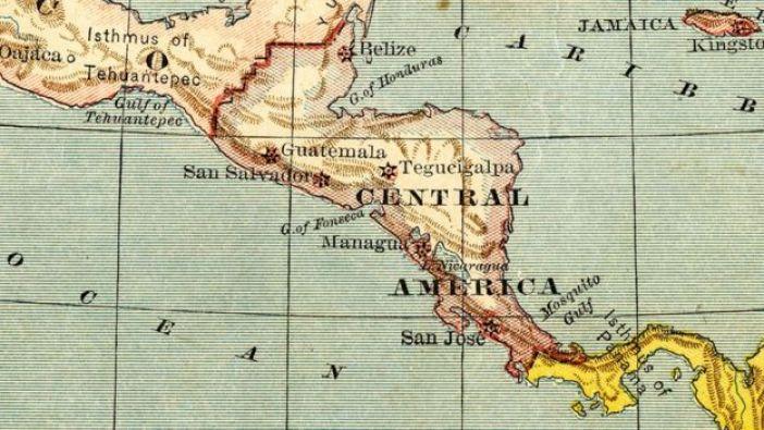 Mapa de Centroamerica