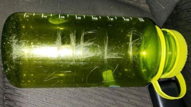 California şelale not şişesi