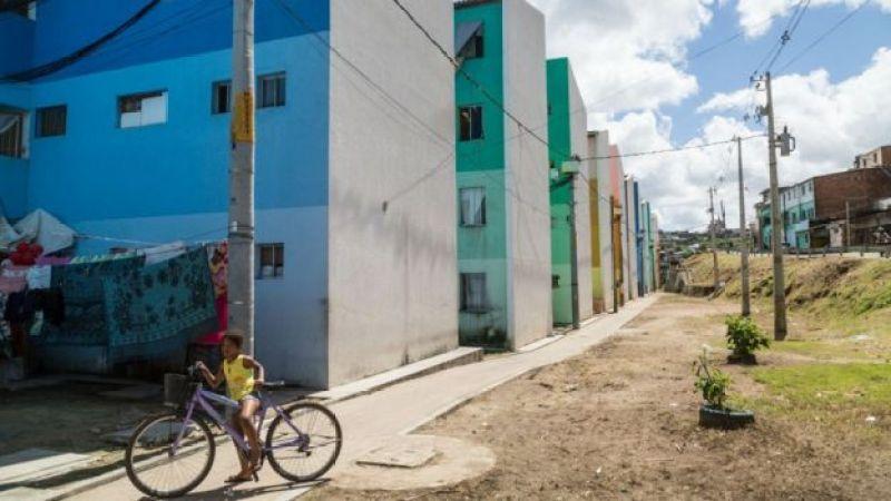 O conjunto habitacional Eduardo Campos, onde Rosa mora no Recife, no bairro Linha do Tiro