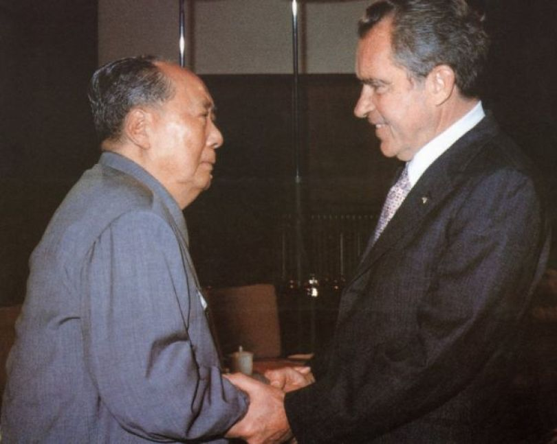 Mao e Nixon em Pequim