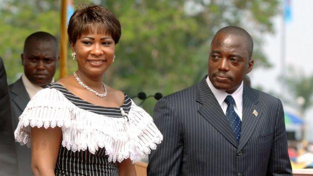 Olive Lembe Kabila na Joseph Kabila