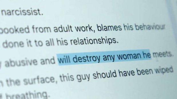 """En esta publicación del grupo se alerta que un hombre """"destruirá a cualquier mujer que conozca""""."""