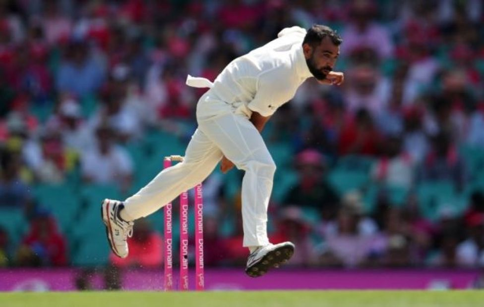 Mohammed Shami of India appeals for the wicket of Usman Khawaja of Australia during day four of the Third Test match in the series between Australia and India at Melbourne Cricket Ground on December 29, 2018 in Melbourne, Australia